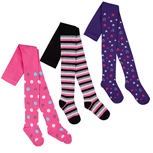 I.L.C.K Girls 3 Pairs Back To School Plain Cotton Rich Tights from ILCK