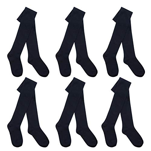 I.L.C.K Girls 6 Pairs Back To School Plain Cotton Rich Tights from ILCK