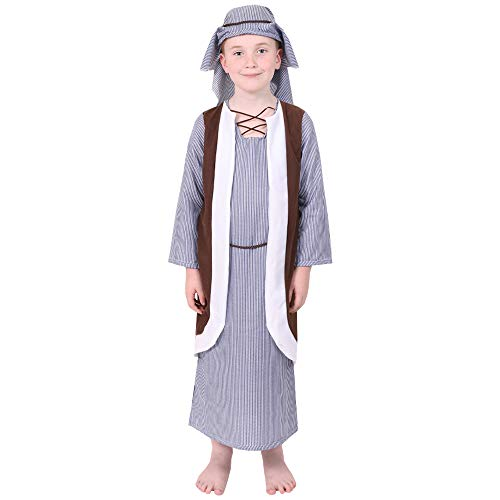 ILOVEFANCYDRESS CHILDS JOSEPH COSTUME CHILDRENS NATIVTY COSTUME - TUNIC WITH COAT AND HEADPIECE (X-LARGE) from ILOVEFANCYDRESS
