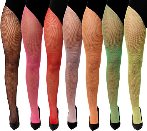 ILOVEFANCYDRESS LADIES YELLOW FISHNET TIGHTS - WOMENS ADULTS MESH TIGHTS ONE SIZE FITS MOST (NEON YELLOW) from ILOVEFANCYDRESS