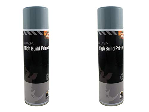 INDASA 2 x Dark Grey High Build Acrylic Based Primer 500ml Aerosol - Excellent Adhesion from INDASA