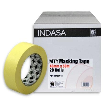 "INDASA 48mm Low Bake Masking Tape 2"" Box of 20 Rolls - Low Residue - Suitable For Use In Low Bake Ovens from INDASA"