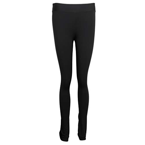 IPOTCH Womens Girls Ice Figure Skating Practice Long Pants Warm Tights Trousers - 9 sizes - Black, S from IPOTCH