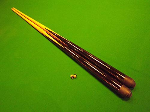 2 small 36 inch pool /snooker cues with 4 pieces of Triangle green chalk from IQ