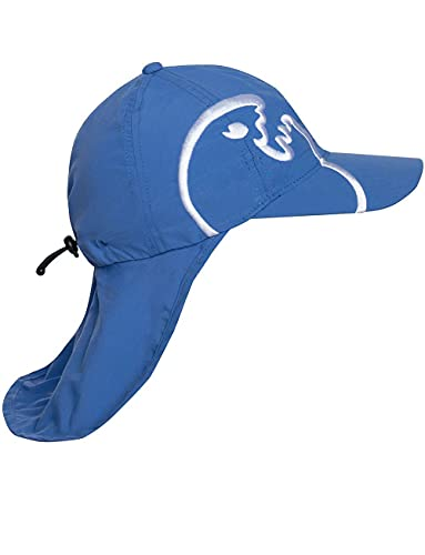 IQ-UV Boys UV Protective Cap With Neck Protection - Dark Blue/Dark Blue, 50-55 cm from iQ-UV