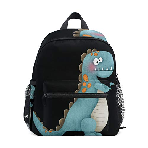 ISAOA Blue Dinosaur Children's Backpack for Boys,Kid's Schoolbag for Kindergarten Preschool Toddler Baby Nursery Travel Bag with Chest Clip from ISAOA