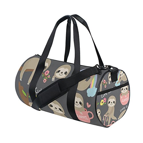 ISAOA Gym Bag Cute Baby Sloth Sports Duffel Bag for Women and Men from ISAOA