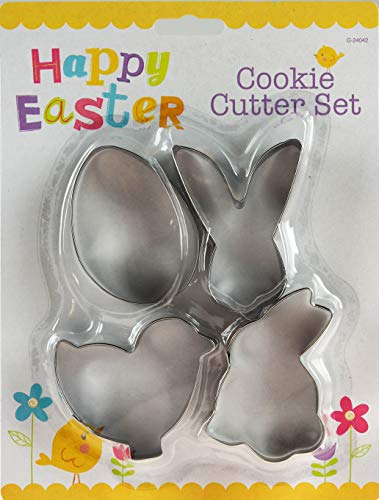 ITP G24042 Easter Steel Cookie Cutters Mould Cake Biscuit Baking Tool Decoration Set 4 Pack 25cm x 19cm x 3cm from Stalwart