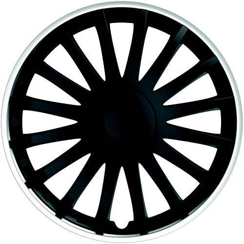 IWH 076015 Montecarlo Wheel Trims - Black/Silver - 14 from IWH