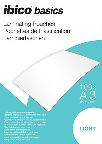Ibico Basics A3 Light Laminating Pouch (Pack of 100) from Ibico