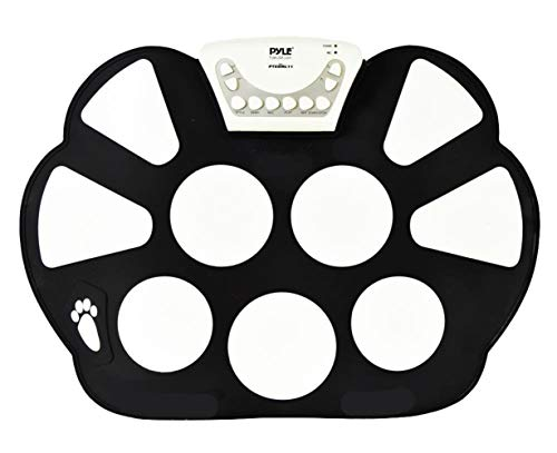 Icegrey Portable Electronic Drum Kit Digital Foldable Roll Up Drum Pad Set Instruments Headphone USB MIDI Jack with Drum Sticks for Practice Starters Kids black One size from Icegrey