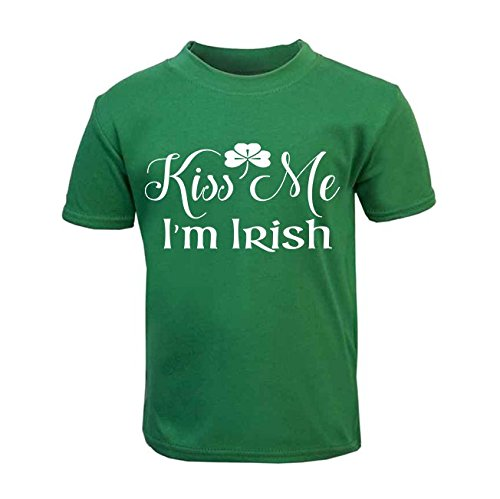 Kiss Me I'm Irish Children's T-Shirt St. Patricks Day Kids Top Toddler Irish St. Patricks Day Kids Top (4-5 Years) from ICKLE PEANUT