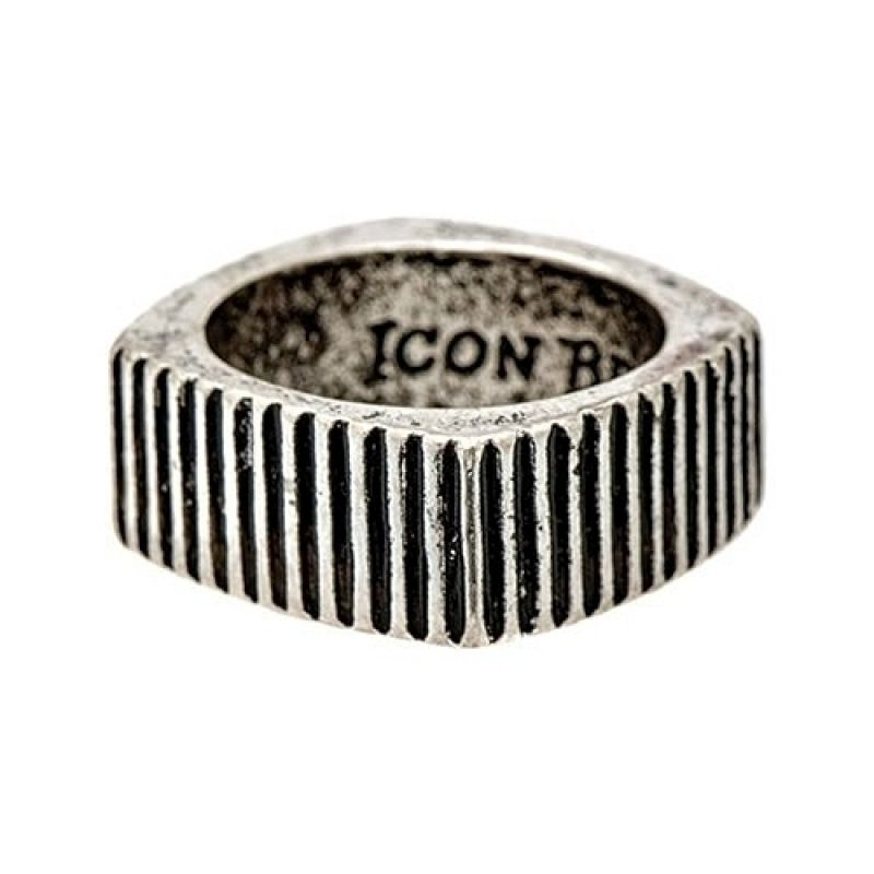 Mens Icon Brand Base metal Size Large Time Squared Ring from Icon Brand Jewellery