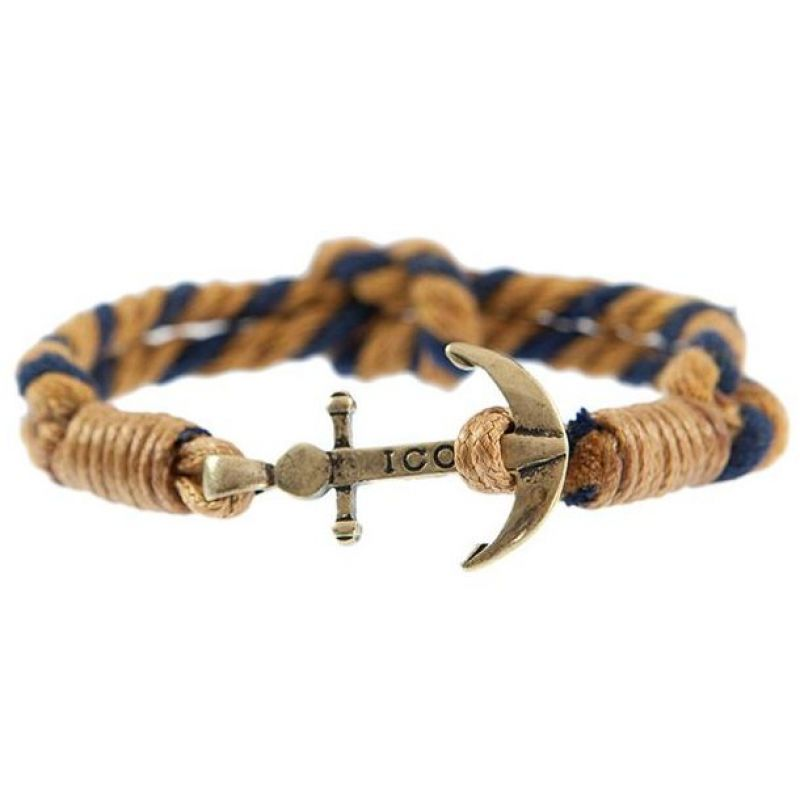 Mens Icon Brand Gold Plated Captain Flint Bracelet from Icon Brand Jewellery
