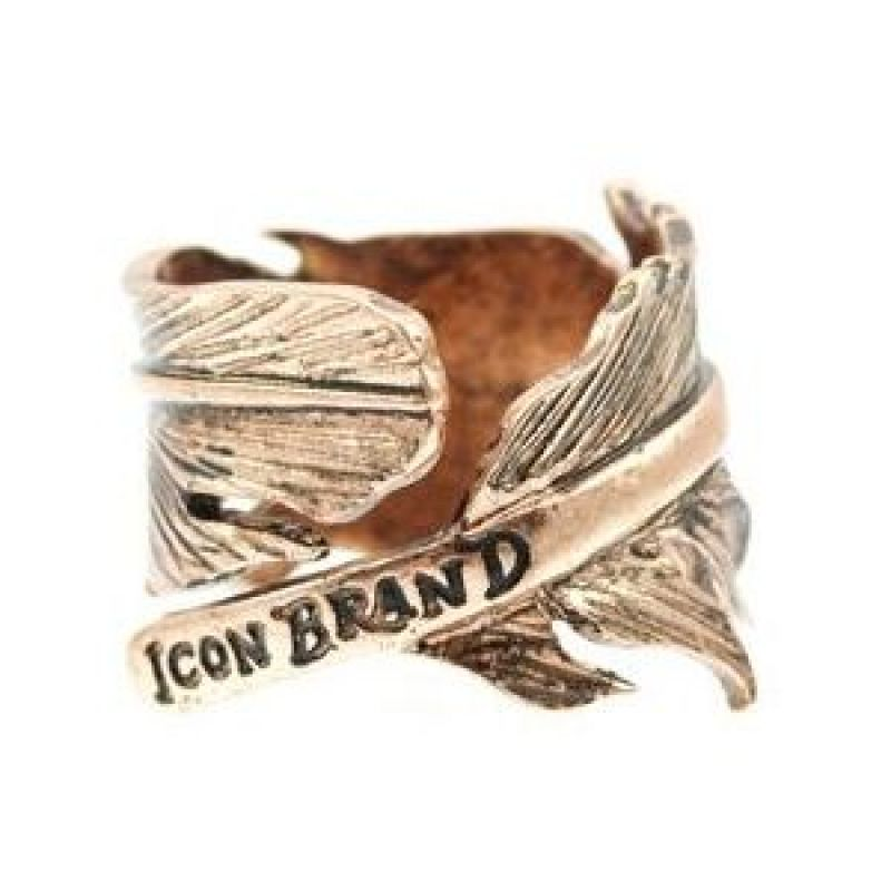 Mens Icon Brand Gold Plated Momento Ring Size Medium from Icon Brand Jewellery