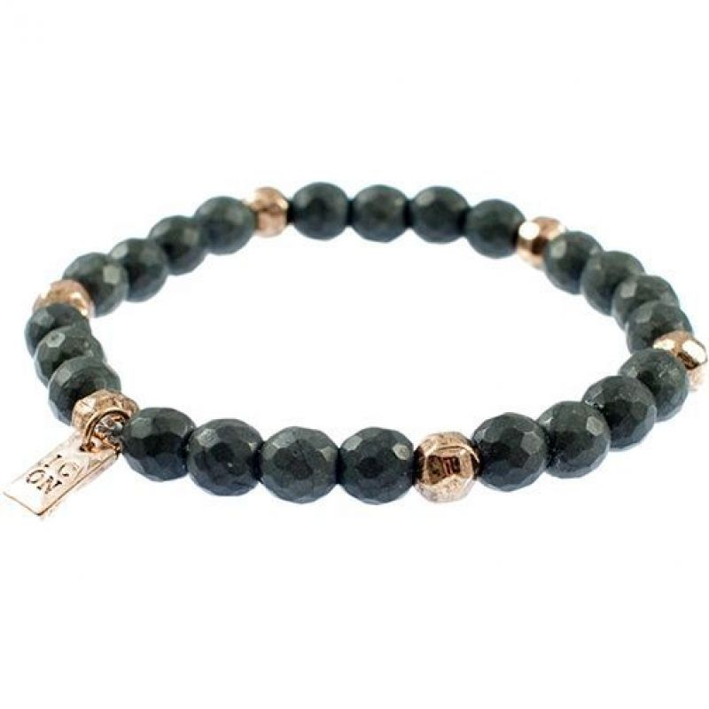 Mens Icon Brand Rose Gold Plated Faceted Bead Bracelet from Icon Brand Jewellery
