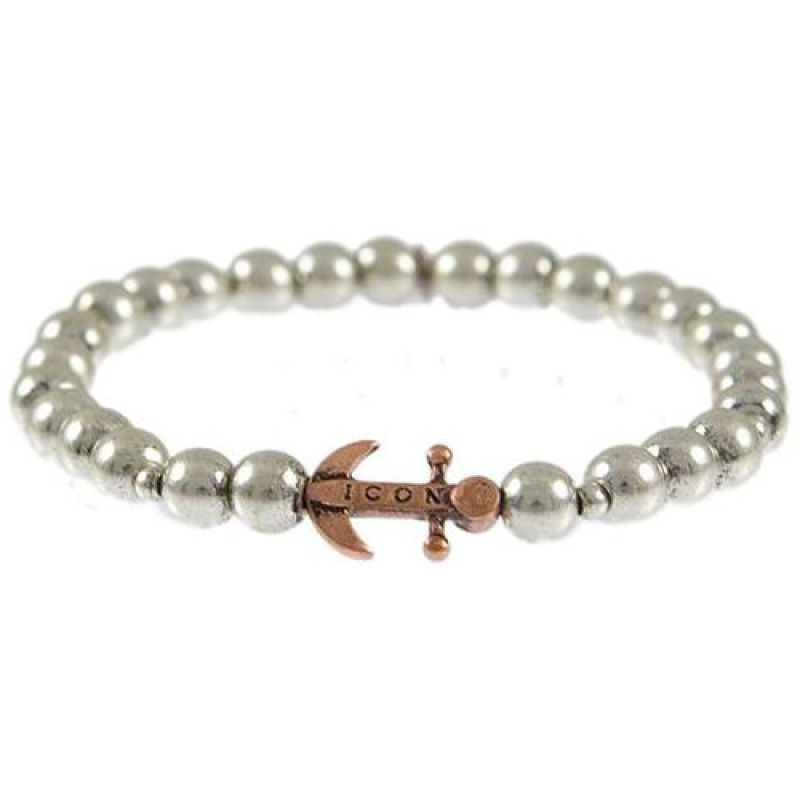 Mens Icon Brand Silver Plated Anchorage Bracelet from Icon Brand Jewellery