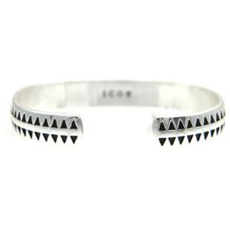Mens Icon Brand Silver Plated Hound Tooth Bangle from Icon Brand Jewellery
