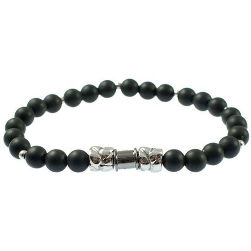Mens Icon Brand Silver Plated Rattan Brad Bracelet from Icon Brand Jewellery