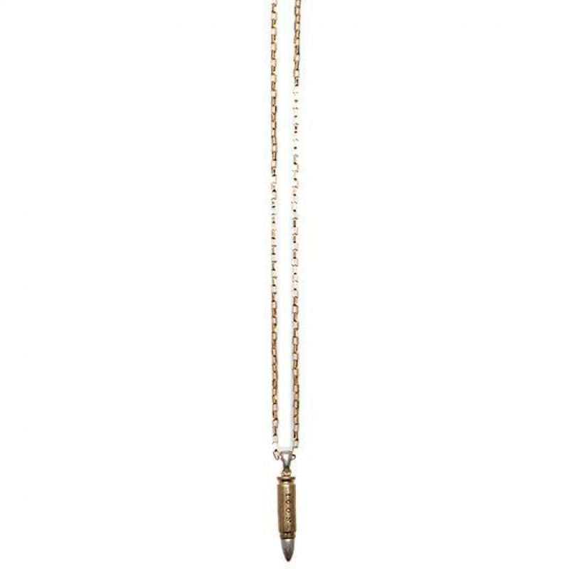 Mens Icon Brand Two-tone steel/gold plate Ricochet Necklace from Icon Brand Jewellery