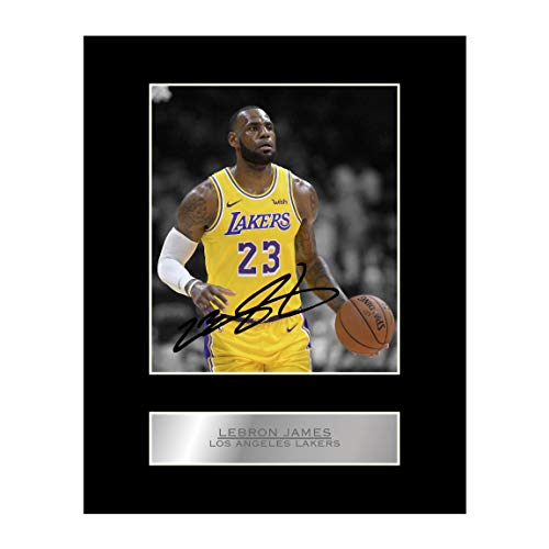 Lebron James Signed Mounted Photo Display Los Angeles Lakers #2 NBA Autographed Gift Picture Print from Iconic pics