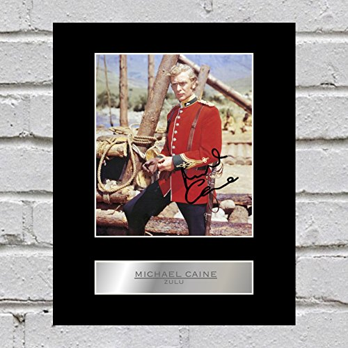 Michael Caine Signed Mounted Photo Display Zulu from Iconic pics