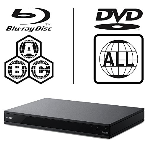 Sony UBP-X800 UHD Blu-ray Player Multiregion Blu-Ray & DVD. Code Free Blu-ray Player for All Zone playback from Icos