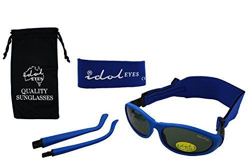Baby Wrapz 2 Convertible Sunglasses 0-5 Years With 2 Headbands & Attachable Arms (Blue) from Idol Eyes