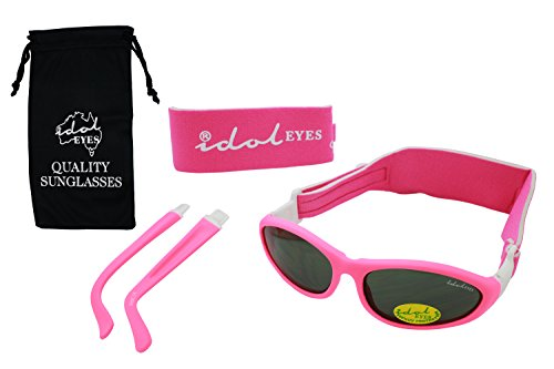 Baby Wrapz 2 Convertible Sunglasses 0-5 Years With 2 Headbands & Attachable Arms (Pink) from Idol Eyes