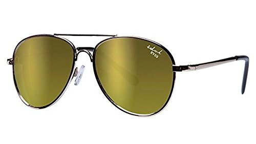Idol Eyes Metal Aviator Kids Sunglasses with Gold Mirror Coating from Idol Eyes