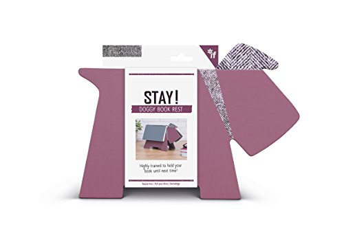 IF Stay! Doggy Book Rest - Purple Herringbone from IF