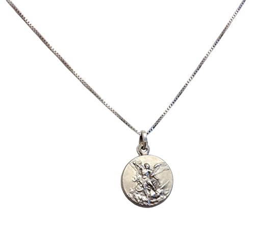925 Sterling Silver Saint Michael The Archangel Medal with Silver Chain from Igj