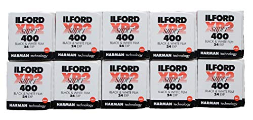 Ilford XP2 Super 400asa B&W film, 24 exp. multipack of 10 [Camera] from Ilford
