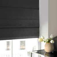 Satin Roman Blind Slate from Illuminate Blinds