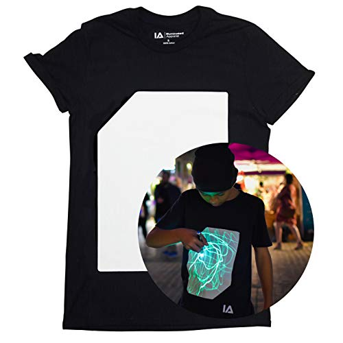 Interactive Glow In The Dark T-shirt Black (Medium) from Illuminated Apparel