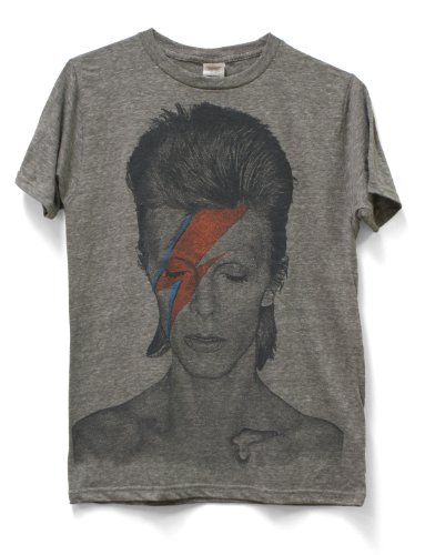 Impact Men's David Bowie Lightning Aladdin Sane T-Shirt, Athletic Grey, Large from Impact