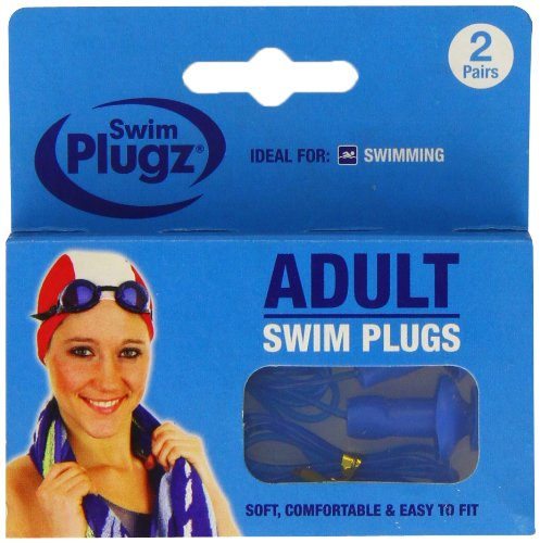 Swim 2 Pairs Plugz Adult Swimming Earplugs - Pack of 2 from Swim