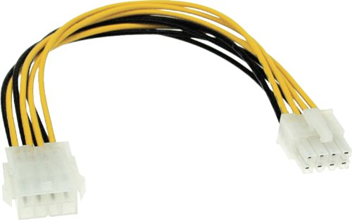 InLine® ATX/AT Power Cable Network Cable Internal 1x 8-Pin Male to 1 x 8 pin/Female 0.20 m from InLine