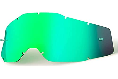 Accuri Racecraft/Accuri/Strata Goggles Replacement Lens, Ecran Racecraft/Accuri/Strata - Miroir vert/fumé anti-buée, green, One Size from Unknown