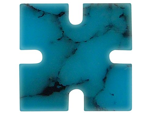 Incudo Precision IP001849 8mm Notched Square Inlays - Arizona Turquoise (Pack of 20) from Incudo Precision