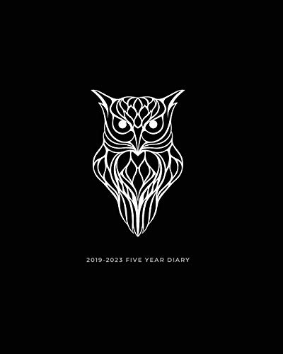 2019-2023 Five Year Diary: Owl Month to View Calendar, Schedule Planner and Appointment Diary (UK Edition) (Agendas, Personal Organisers and Monthly Planners) from Independently published