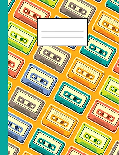 80s notebook: A fun and trendy 80's theme composition book: College ruled, soft back: Perfect for school work: Vintage casette tape design from Independently published