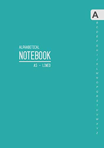 Alphabetical Notebook A5: Medium Lined-Journal Organizer with A-Z Tabs Printed | Smart Teal Design from Independently published