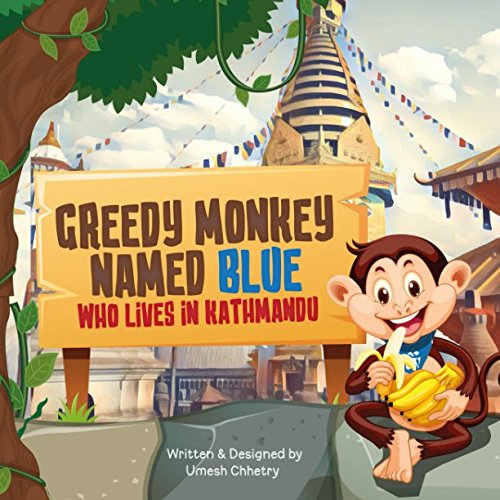 Greedy monkey named blue from Independently published