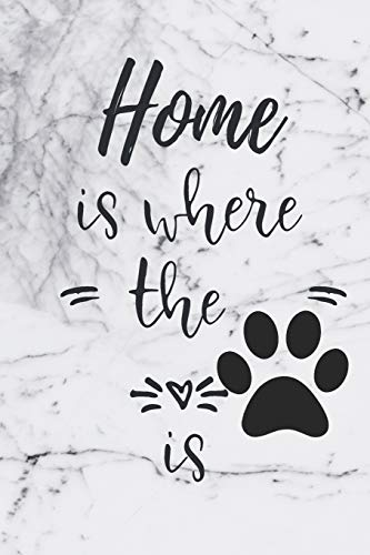 Home Is Where The Is: Alphabetical Organizer With Birthday And Address Book Incl. Addresses, Work/Mobile Numbers, Social media And Email With Dog Marble Cover from Independently published