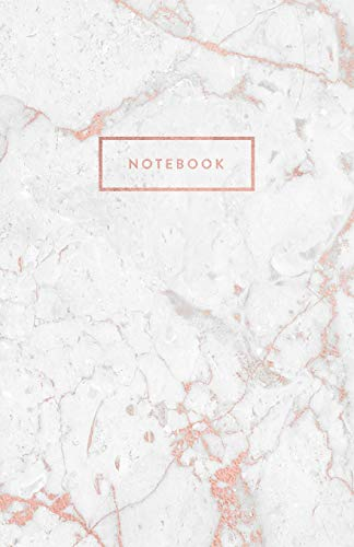 Notebook: Marble and Rose Gold with Rose Gold Title Block | 5.5 x 8.5 - A5 Size (Trendy Marble and Gold) from Independently published