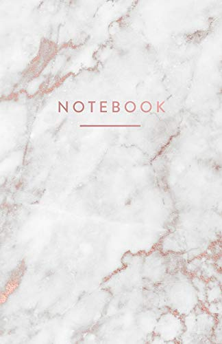 Notebook: White and Gold Marble with Rose Gold Lettering | 5.5 x 8.5 - A5 Size (Trendy Marble and Gold) from Independently published