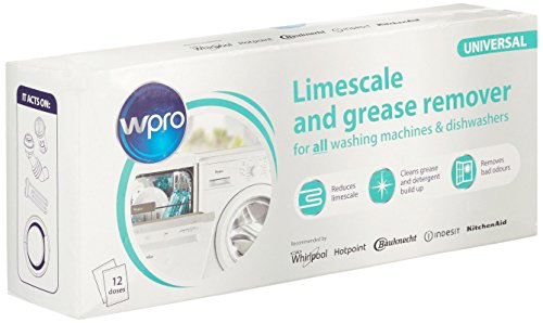 Wpro C00091780 Washing Machine Accessory/RPM/Original Replacement Limescale & Grease Remover for Washing Machine/Dishwasher from Wpro