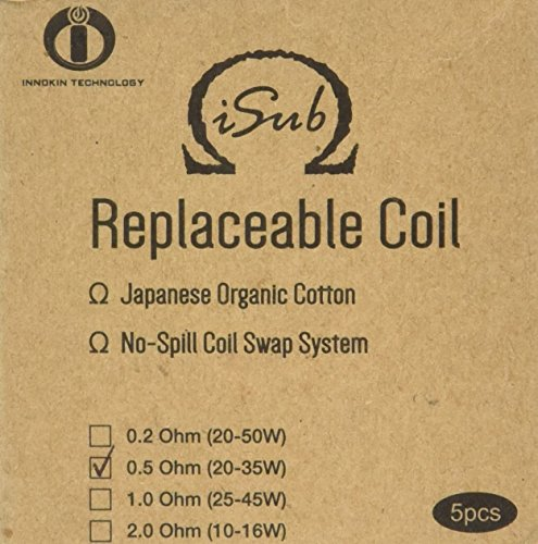 INNOKIN 0.5 ohm Isub Coils - Pack of 5 from Innokin