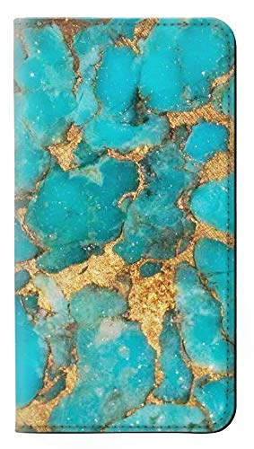 Aqua Turquoise Stone PU Leather Flip Case Cover For Google Pixel 3 from Innovedesire